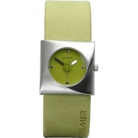 Lime Green Leather 'Little Switch' Watch
