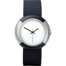 Navy Blue Leather 'Quattro' Watch