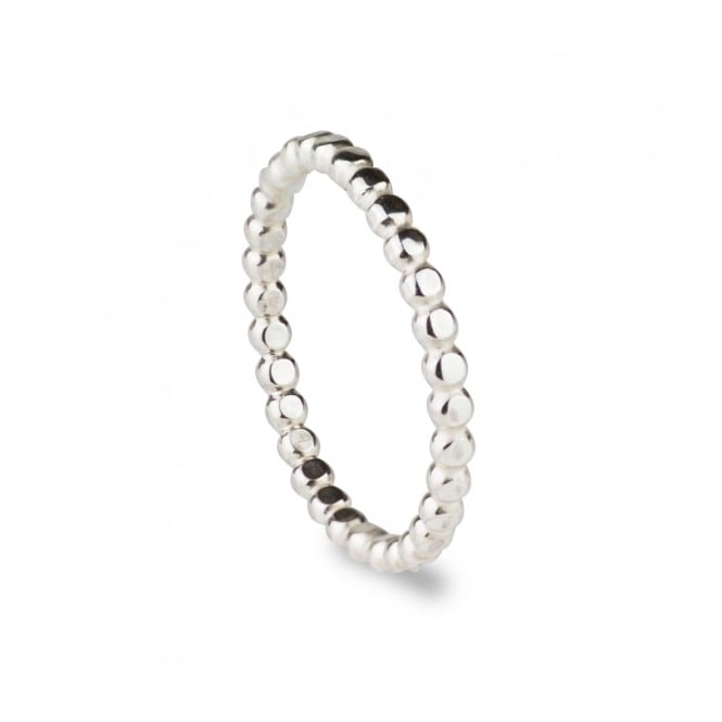 Scarlett Jewellery Sterling Silver Beaded Wire Stack Ring