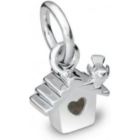 Sterling Silver Bird Box Charm