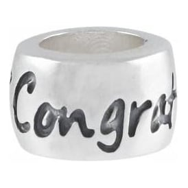 Sterling Silver Congratulations Charm