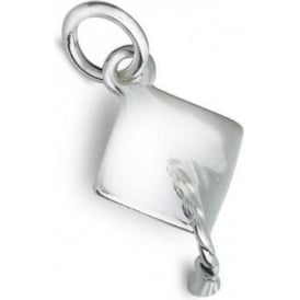 Sterling Silver Mortar Board Graduation Charm