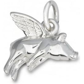 Sterling Silver Pigs Might Fly Charm