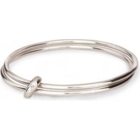 Sterling Silver Que Sera One Love Bangle