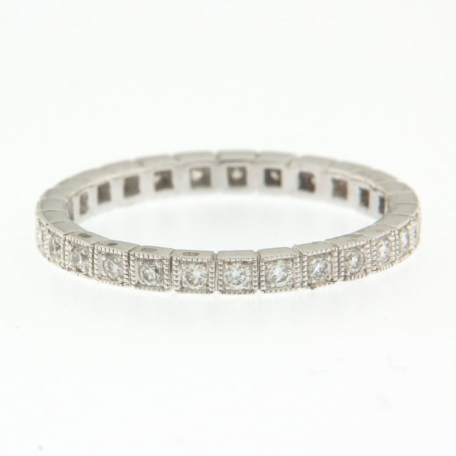 Ungar & Ungar 18ct White Gold Vintage Eternity/Wedding Ring with 0.36ct Diamonds