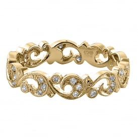 18ct Yellow Gold Floral Wedding Ring