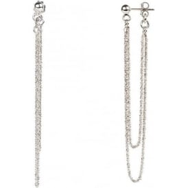 Chic Rio Silver Front And Back Chain Earrings