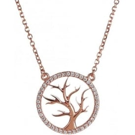 Rose Gold Plated Tree of Life Necklace