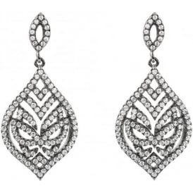 Sterling Silver Hidden Mask Fancy Drop Earrings