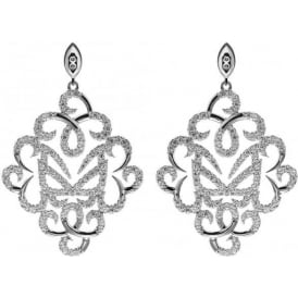 Sterling Silver Hidden Mask Fancy Earrings