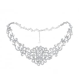 Sterling Silver Hidden Mask Statement Choker Necklace