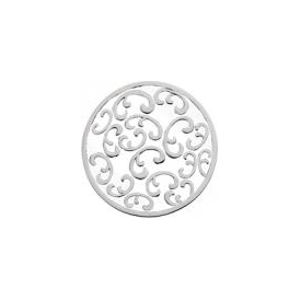 23mm Filigree Enamel Keepsake Disc