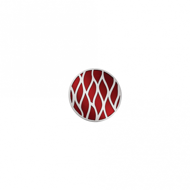 Virtue London 32mm Red Wave Enamel Disc