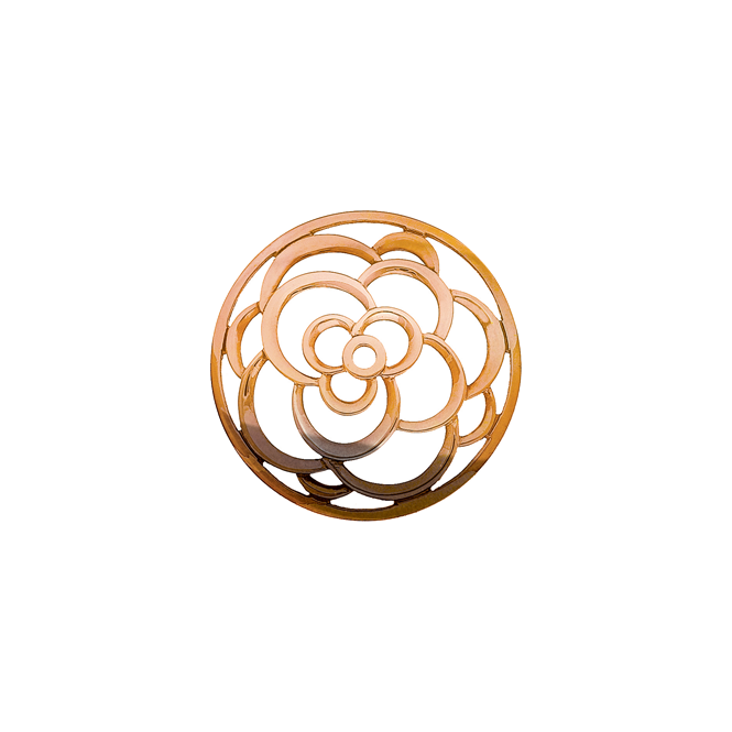 Virtue London 32mm Rose Gold Flower Cut Out Keepsake Disc