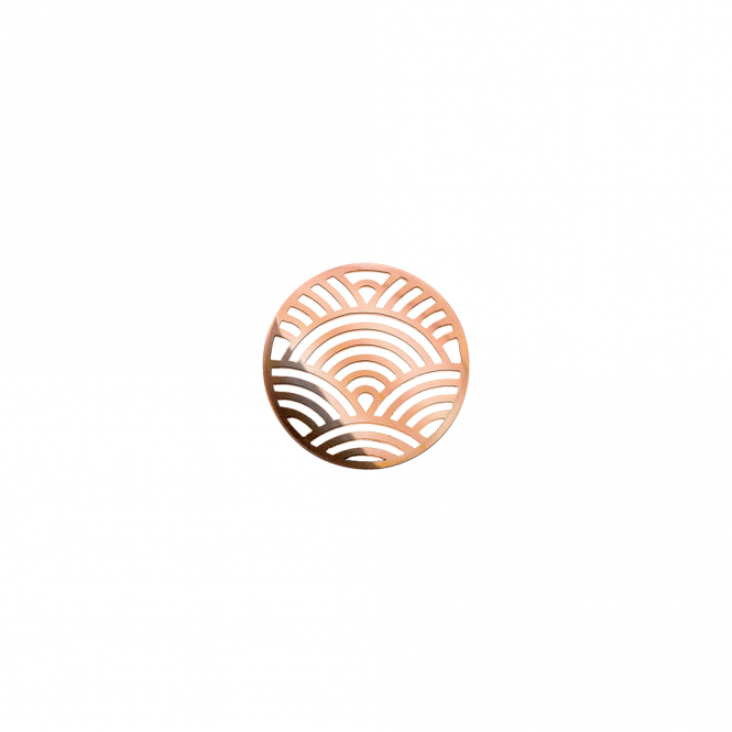 Virtue London 32mm Rose Gold Rainbow Cut Out Disc