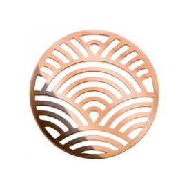 32mm Rose Gold Rainbow Cut Out Disc