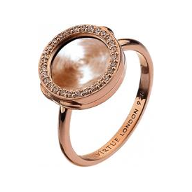 Rose Gold Interchangeable Locket Ring