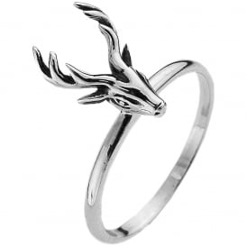 Sterling Silver Stag Stacking Ring